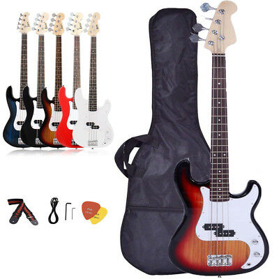 "New 39"" 46"" School Band Right Handed Electric Guitar w/Bag & Accessories B2"