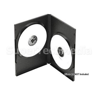 100 Standard 14mm Double 2 CD DVD Disc Black Case Movie Video Box