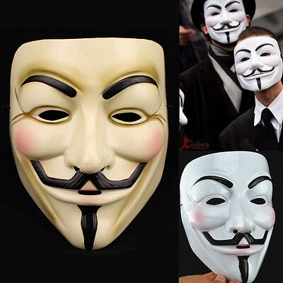 10 x V für Vendetta Maske Guy Fawkes Anonymous Halloween Masken Cosplay  ()