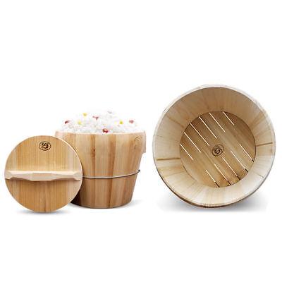 """Wooden Rice Cooker Food Steamer 10.5"""" Set Barrels Kitchen Co"""