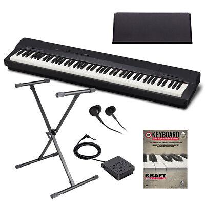 Casio Privia PX-160 Digital Piano - Black KEY ESSENTIALS BUNDLE