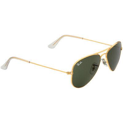 Ray-Ban Aviator Small Metal Frame Green Lens Unisex Sunglasses (Cheap Ray Ban Aviators Small)