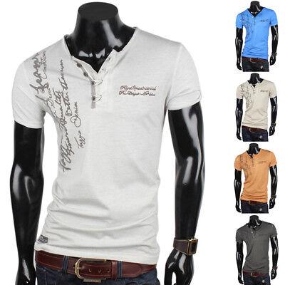 TAZZIO Herren T-Shirt 85415 Slim Fit Japan Style Kurzarm Neu