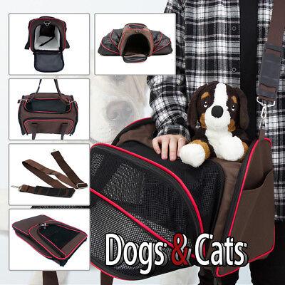 Evelyne Pet Dog Cat Travel Expandable Soft Side Carrier Travel tote Bag Cage