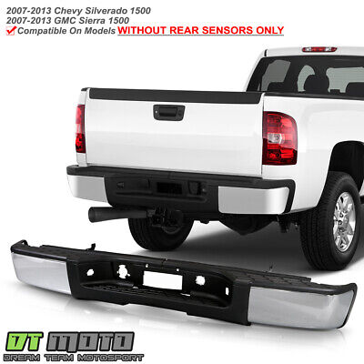 2007-2013 Chevy silverado/GMC Sierrsa 1500 Pickup Chrome Complete Rear Bumper
