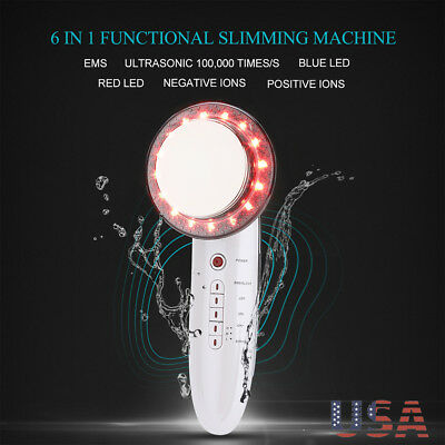 6in1 Ultrasonic Cavitation Fat Removal Ems Cellulite Frequency Slimming Massager