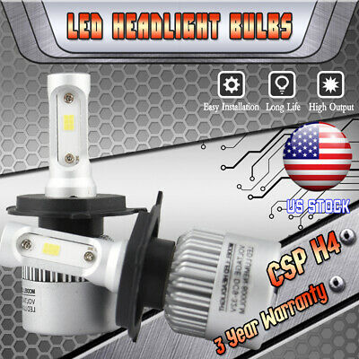 2 Bulbs H4 HB2 9003 LED Headlight Kit Combo 160W High Low Beam 6000K White Hi/Lo