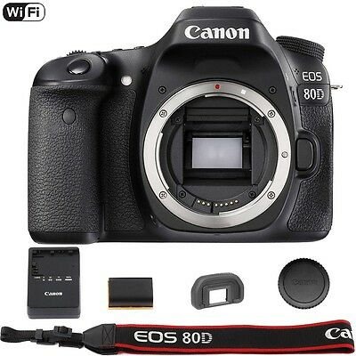 Canon Eos 80D 24 2 Mp Built In Wifi Dslr Camera  Body