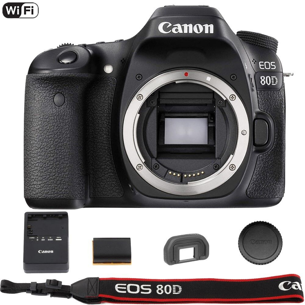 Купить Canon 80D - Canon EOS 80D 24.2 MP Built-In WiFi DSLR Camera (Body Only) - Summer Time Sale