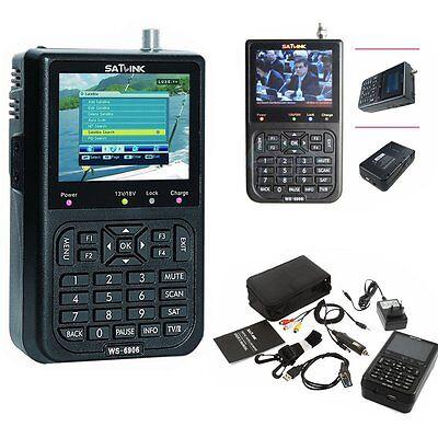 SATLINK WS-6905 HD 3.5 Inch LCD DVB-S Digital Satellite Signal Finder Meter-New