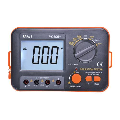 VICI VC60B+ Digital Insulation Resistance Tester Megohmmeter Meter Full Function