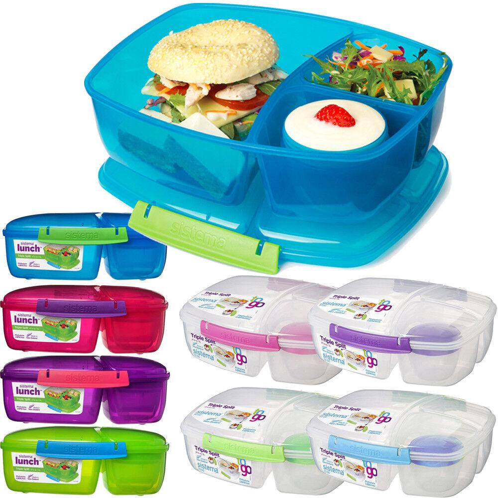 Sistema Lunchbox + Joghurt Becher Brotdose Brotbox Vesperdose Quaddie Frischebox