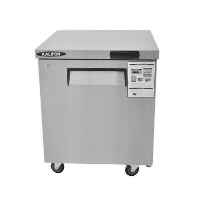 Commercial Stainless Steel Undercounter Refrigerator 7.4 Cu. Ft Worktop Fridge