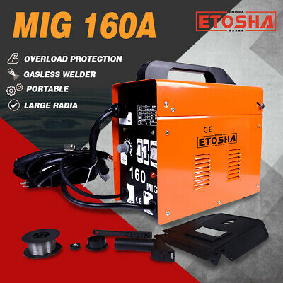 160a Mig Electric Welder Inverter Welding Machine 110v Ac Flux Core Wire Gasless
