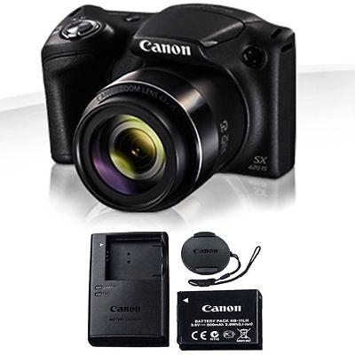 Canon Powershot SX420 IS 20 MP 42x Zoom Digital Camera BLACK BRAND NEW