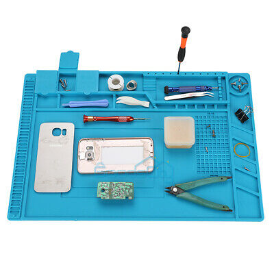 Insulation Pad Heat Resistant Soldering Station Silicon Soldering Mat 22x14 In