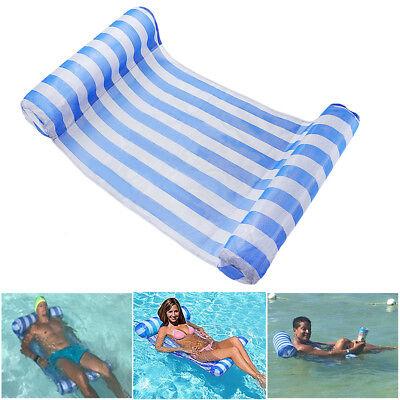 1er Schwimmem Float aufblasbare Hängematte Pool Wasser Kissen Floß Stühle Bett