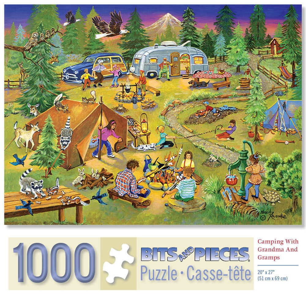 Bits And Pieces Jigsaw Puzzle Camping With Grandma And Gramp
