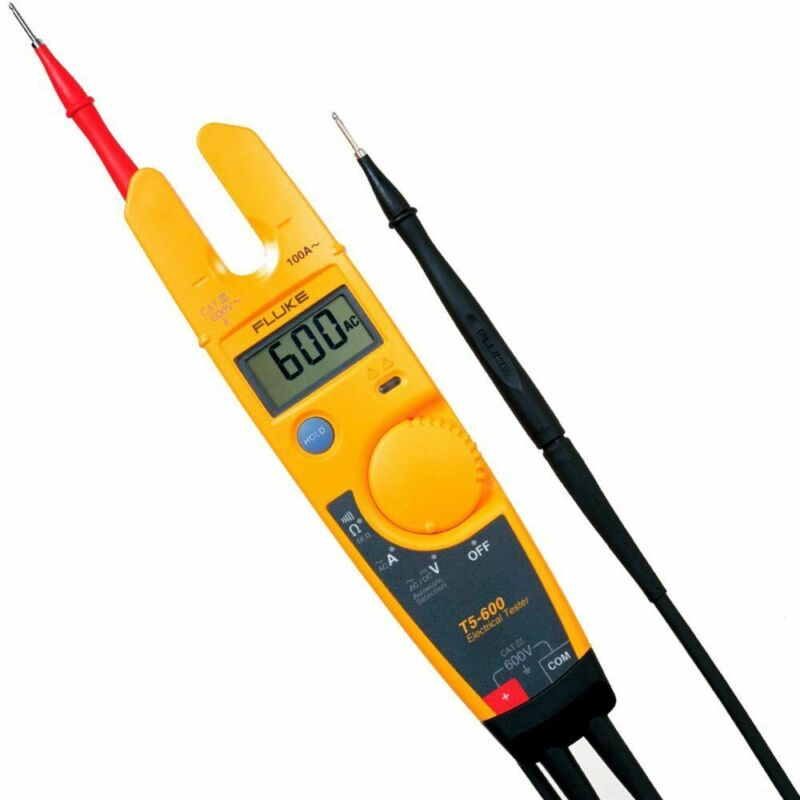 Fluke T5-600 Voltage, Continuity and Current Tester with OpenJaw™