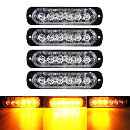 6 LED Car Truck Strobe Light Bar Emergency Beacon Warning Hazard Flash Lamp