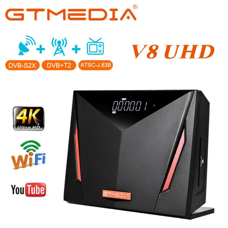 GTMEDIA Digital Satellite Receiver FTA Sat Decoder  V8 UHD TV Tuner Box Wifi 4K