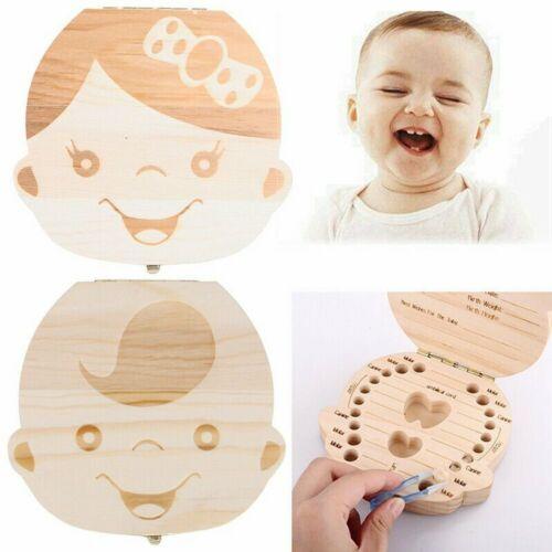 Taufe Milchzahndose Zahndose Holz Milchzähne Box Souvenir Geschenk für Kinder