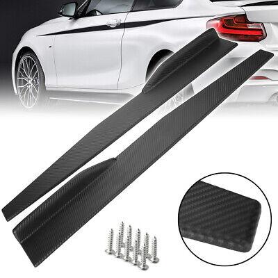 Pair Car Bumper Spoiler Rear Lip /Side Skirt Extension Splitters Winglet Wings