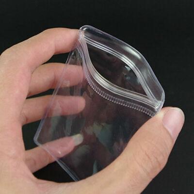 100x Pvc Anti-oxidation Plastic Grip Seal Bag Jade Jewelry Ring Storage Pouch