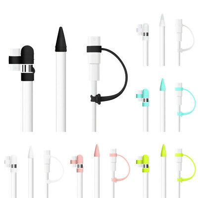 For Apple Pencil 1st Sleeve Soft Silicone Cap Holder Nib Tip Protector 3pcs/set