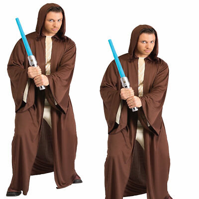Erwachsene Jedi Kostüm Braun Schwarz Sith Robe mit Kapuze Mönch Star Wars (Sith Robe Mit Kapuze Kostüm)