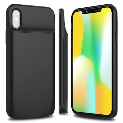 Rechargeable 6000mAh Smart Battery Case Portable Bank Charger Cover For iPhone X
