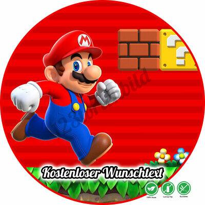 tstag Tortenbild Zuckerbild Oblate Super Mario 04 (Super Mario Kuchen)