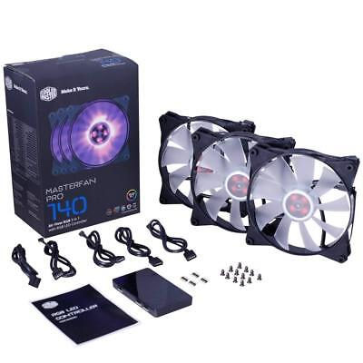 Cooler Master MasterFan Pro 140 3-in-1 Air Flow Case Fan with RGB LED Controller