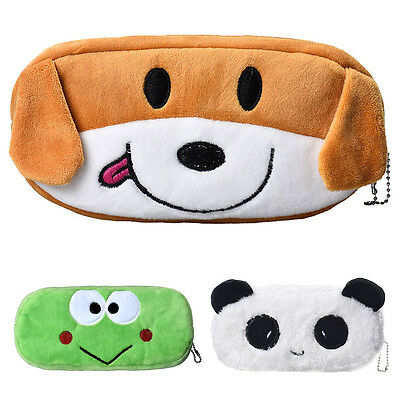 New Creative Cute Cartoon Pencil Case Plush Large Pen Bag For Kids Wholesale