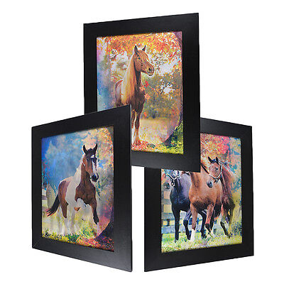 3 Dimension 3D Lenticular Picture Horse Ranch Racing Chestnut Black Forest Tree