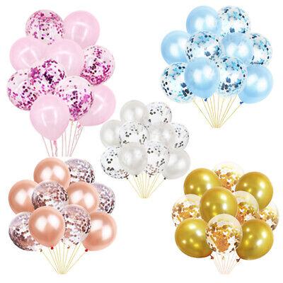 "12"" Confetti Latex Balloons Rose Gold Helium Happy Birthday Wedding Hen Party"