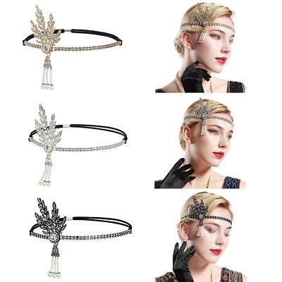 1920s Flapper Great Gatsby Headband Pearls Charleston Party Bridal Headpiece - 1920s Headpiece