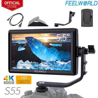 "FEELWORLD S55 5.5"" Camera Field DSLR Monitor with Tilt Arm Sunshade for DJI"