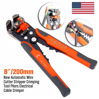 Self-adjust Automatic Wire Stripper Cutter Crimper Terminal Electric Tool Pliers