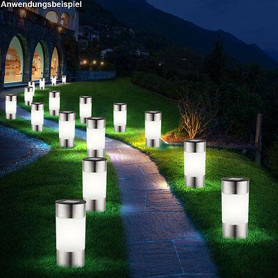 12x LED Solar Leuchte Garten Stand Licht Außen Steck Lampe IP44 Haus Weg Leuchte