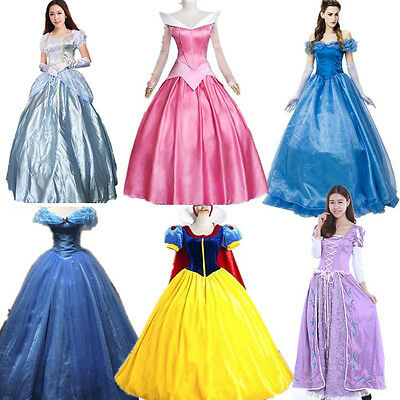 Hot Adult Cinderella Snow White Aurora Costume Fairytale Princess Dress - Princess Aurora Costume Adults