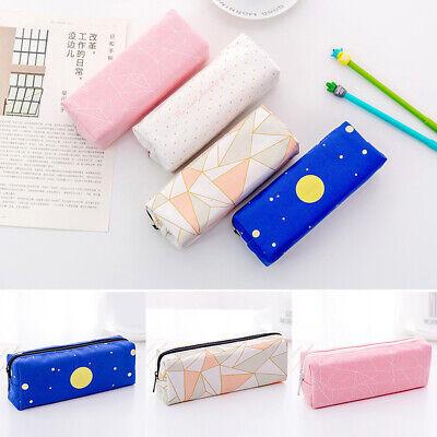Canvas Galaxy Star Pencil Case Makeup Bag Zipper Pouch Storage Stationery Supply](Galaxy Makeup Bag)
