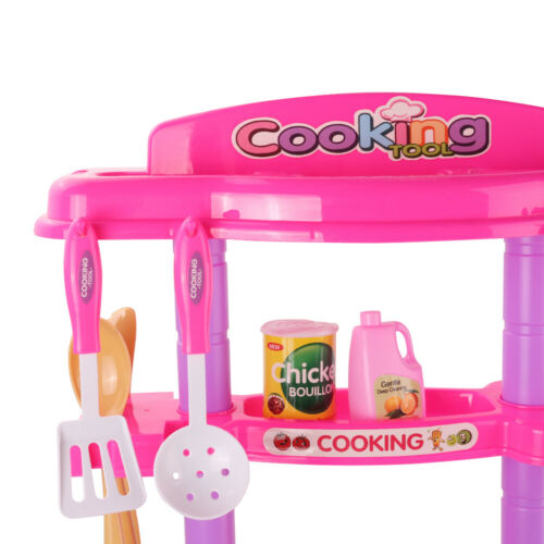 Christmas Kitchen Toy Set With Light Sound Stove Oven Cooking Role Play Kit Gift