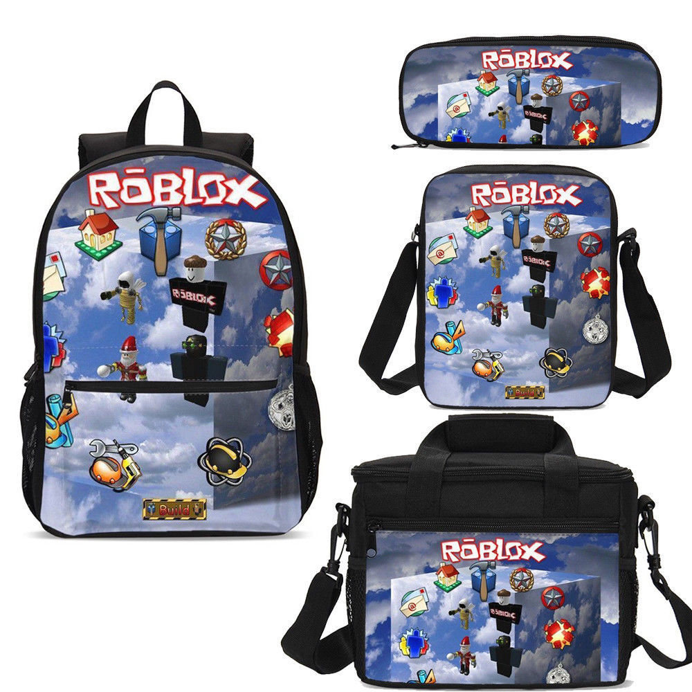 92e21dc48c6d Details about Roblox Game Kids School Backpacks Insulated Lunch Box  Shoulder Bags Pen Case Lot