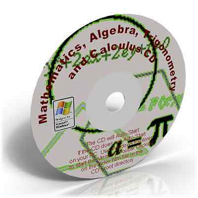 Mathematics,Algebra,Trigonometry & Calculus Learning CD
