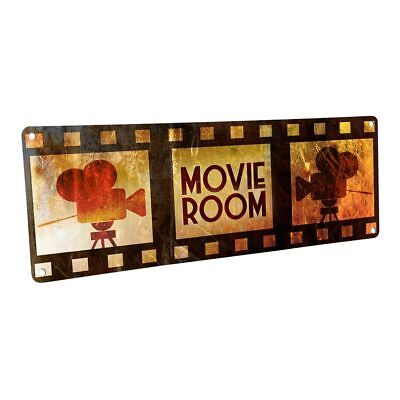 Movie Room Metal Sign; Wall Decor for Home Theater or Family - Movie Theater Wall Decor