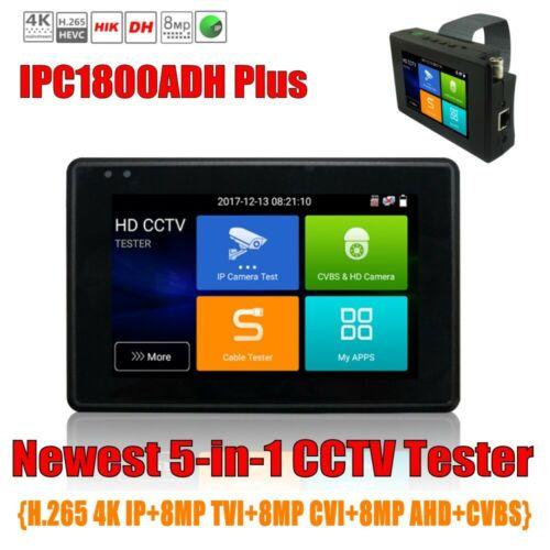 H.265 4K IP 8MP CVI TVI AHD CVBS CCTV Camera tester Monitor IPC-1800ADH Plus
