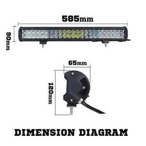 Osram 23inch 336W 5D Lens LED Light Bar Flood Spot Combo Work Lam Silverwater Auburn Area Preview