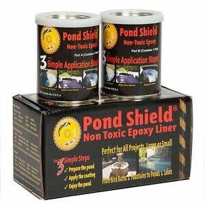 Pond armor shield black epoxy sealer kit 1 5 qt water for Koi pond kits home depot