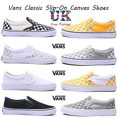 Vans Classic Slip-On Men's Women's Casual Canvas Shoes Checkerboard Trainers